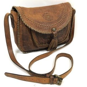 Patricia Nash Tooled Distressed Leather Crossbody